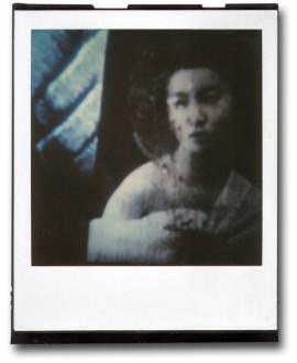 André Werner A Geisha (blue I), SX70, polaroid, ca. 1992