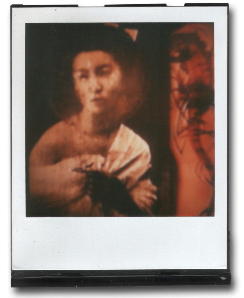 André Werner A Geisha (red II), SX70, polaroid, ca. 1992