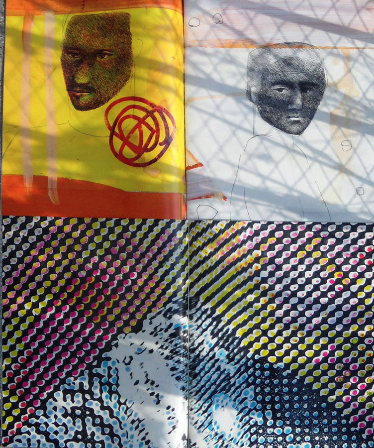Andre Werner | Richard Prince and Sigmar Polke on my balcony #03 | June 12 5pm 36
