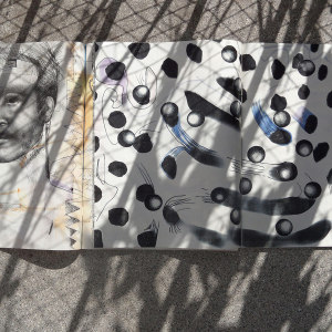 Andre Werner | Richard Prince and Sigmar Polke on my balcony #12| June 12 5pm 39
