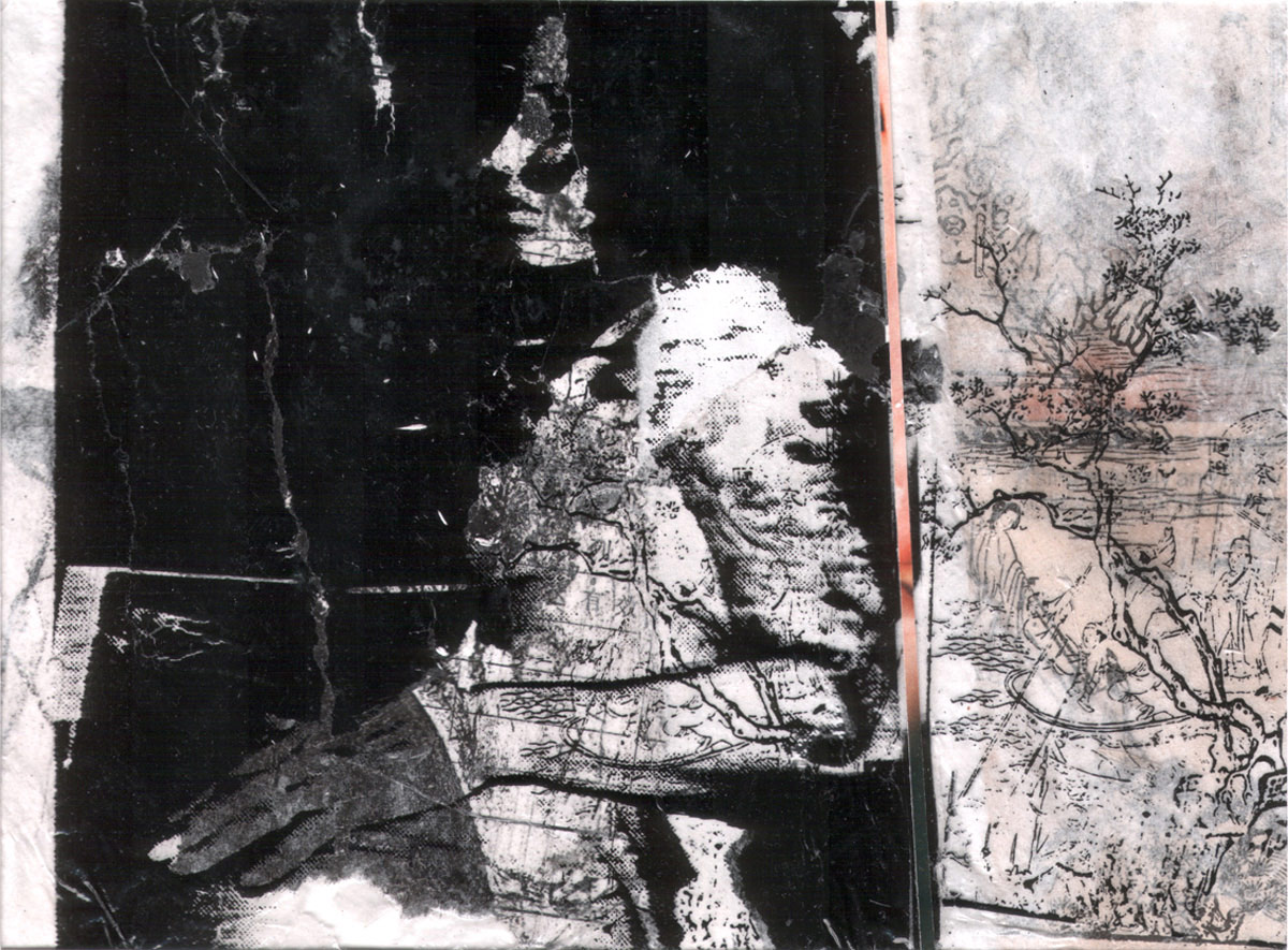 Andre Werner, untitled, phtototransfer/collage, 11 x 16,1 cm (as cibachrome, 200 x 136 cm) 1992