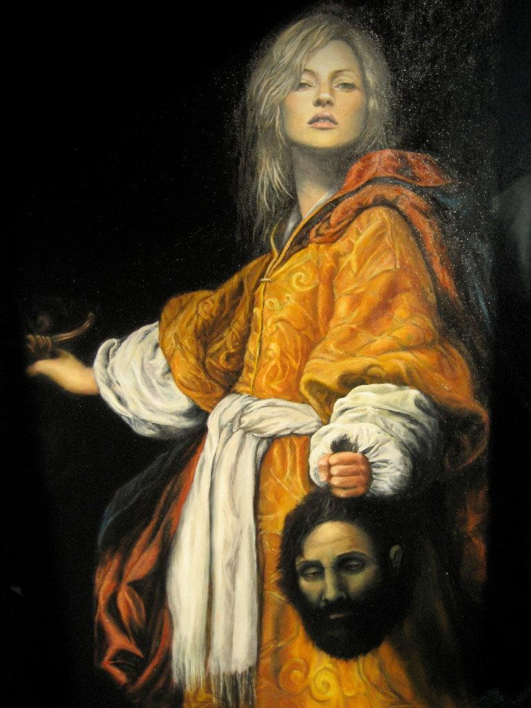 Julia Murakami, Kate beheading Holofernes, 2010 (detail)